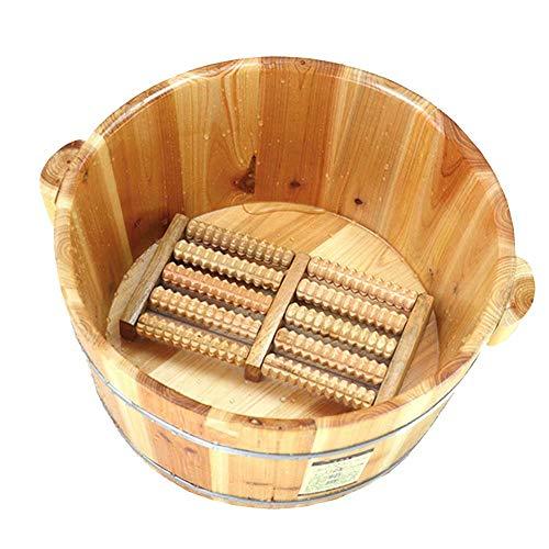WY-Foot bath barrel Baño del pie Barril Madera Maciza Espesamiento Natural Pie Cubo De Madera Balde del pie Bañera de hidromasaje Hogar Sueño, Mejorar