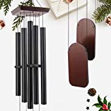 """ASTARIN 48"""" Large Wind Chimes Outdoor Sympathy Wind Chime with 5 Heavy Aluminum Tubes Tuned Soothing Melody, Memorial Wind Chimes for Outside Decoration (Patio, Garden, Yard)"""