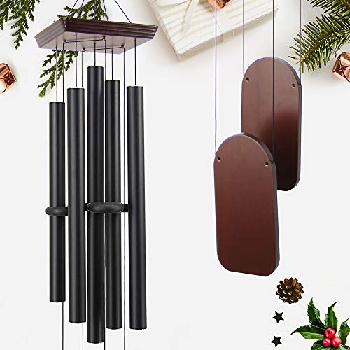 ASTARIN Large Wind Chimes Outdoor Sympathy Wind Chime with 5 Heavy Aluminum Tubes Tuned Soothing Melody, Memorial Wind Chimes for Outside Decoration (Patio, Garden, Yard)