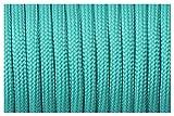 YPASDJH Cuerda 550 Cordón de paracaídas Cuerda de cordón Cuerda de Cordones 7 Strand Paracord para Caminar Camping para jardín, Acampar al Aire Libre (Color : 50 Acid Blue, Length(m) : 50feet)