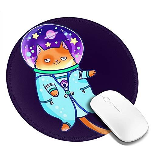 7.9x7.9in ronde muismat bureau kat in ruimte pak toetsenbord mat grote muis pad voor computer desktop laptop
