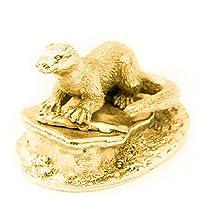 カワウソ(オーナメント) 22ct ゴールドプレート イギリス製 アニマル アート フィギュア コレクション