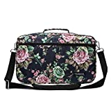 YOUNGCOL Extra Large Capacity Colored Pencil Case Gel Pen Organizer Storage Holds 420 Pencils or 280 Gel Pens (Black Flower)
