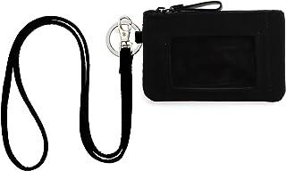 DONGGANGAJI Classic Black Lanyard with Zip ID Case, Fashion Lanyard Wallet, ID Case Wallet with Lanyard,lanyards with wall...