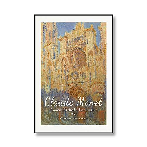 Famoso Claude Monet primavera impresionismo amanecer lienzo pintura arte impresión cartel pared sin marco lienzo pintura A2 60x90cm