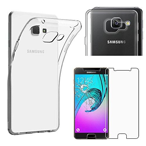 ebestStar - Cover Compatibile con Samsung A5 2016 Galaxy SM-A510F Custodia Trasparente Silicone Gel Protezione Morbida Sottile, Trasparente + Vetro Temperato [Apparecchio: 144.8x71x7.3mm 5.2'']