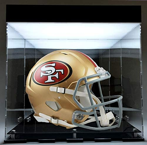Acrylic Full Size Football Helmet Display Box Case Designed with LED Powered Light Private Collections product image