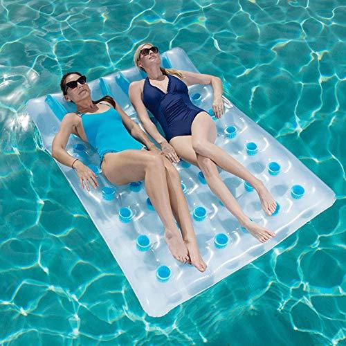 OBTTI Sechsunddreißig-Loch-Doppelt-Sich hin- und herbewegende Reihen-aufblasbare Pool-Flöße, die Bett-Wasserbett-Strand-Matten-Wasser-Pool-Flöße Recliner-Strand-Swimmingpool-Küsten-Partei Schwimmen