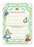 POP parties Alice in Wonderland Large Invitations - 20 Invitations + 20 Envelopes