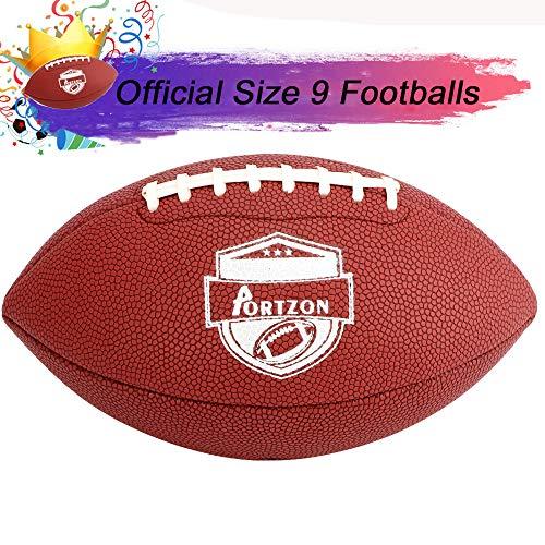 Portzon Unisex Jugend Rugby Kunstlederfußball mit super Griffeigenschaften, offizielle Größe, für Training und Freizeitspiele