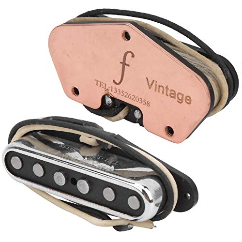 VGEBY Gitarren Pickup, E-Gitarre Vintage Noiseless Pickup Musikinstrument Tuning Tool für Tele Telecaster E-Gitarre