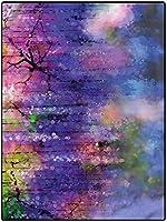 カーペット フランネル 豪華 防ダニ・抗菌・防臭加工 フワフワ 约 160*230cm 滑り止めのゴム製の裏地の藤の枝が付いている花の現代ランナーの敷物自然 アンティーク オールシーズン適 マイクロファイバー ウィルトン織 子供用