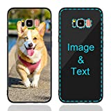 MXCUSTOM Custom Samsung Galaxy S8 Case, Customized Personalized Anti-Scratch Tempered Glass Shockproof Soft TPU Cases with Photo Image Text Picture Design Your Own Phone Covers (GHS-BK-P1)