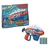 NERF DinoSquad Stegosmash Dart Blaster, 4-Dart Storage, Pull-Back Priming Handle, 5 Official Darts, Dinosaur Design, Stegosaurus Spikes