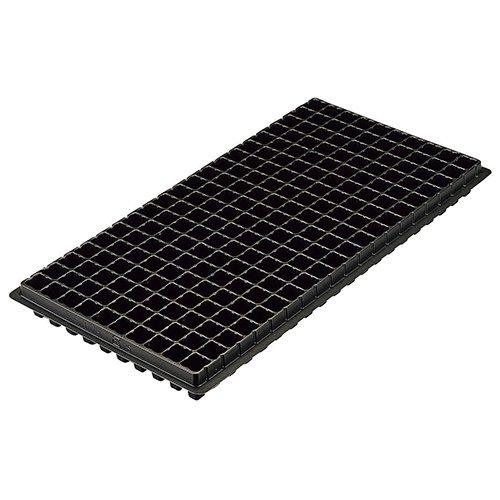 エフピコチューパ PS容器 プラグトレイ 手植用 黒 200穴 外寸280×545×44mm セル穴23.5×23.5mm 10×20列 CP890731