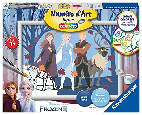 Ravensburger – Numéro d'art moyen format – Disney La Reine des Neiges 2, Anna et ses amis – loisir créatif – kit de peinture acrylique – activite détente – enfant dès 7 ans – 27686