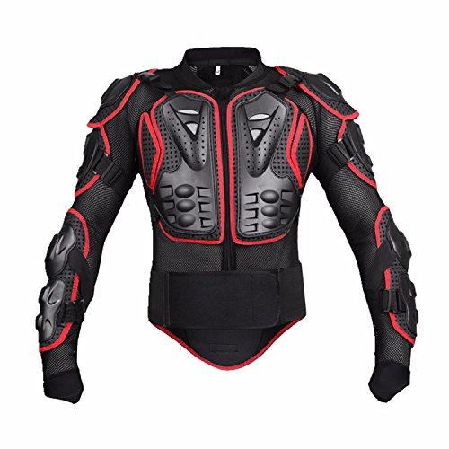 Motorcycle Full Body Armor Protective Jacket Guard ATV Motocross Gear Shirt Red Size L For Honda VTX 1300 C R S RETRO