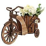 WINOMO Soporte decorativo de madera para bicicleta, soporte para macetas, maceteros de escritorio, decoración para casa, mesa de jardín