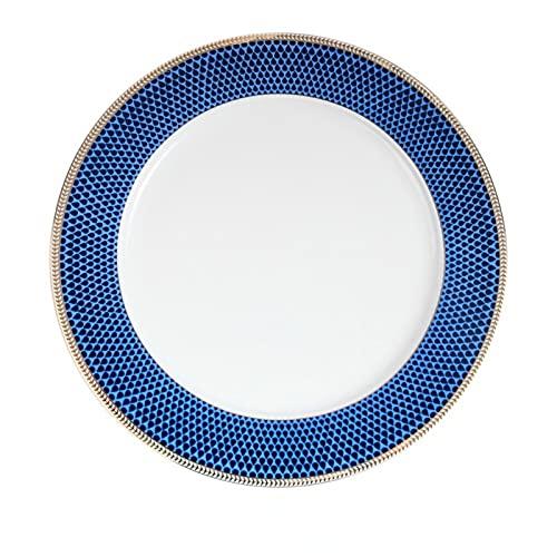 JONJUMP Placa de cargador de porcelana placa de cena de hueso de oro embutido floral platos y platos para el hogar plato de la boda plato de sopa vajilla