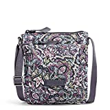 Vera Bradley Signature Cotton Mini Hipster Crossbody Purse with RFID Protection, Bonbon Medallion