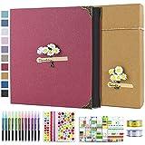 Vienrose Album de Fotos 10x15 Scrapbook con Espiral (60 Páginas Negra) Pegar y Escribir DIY...