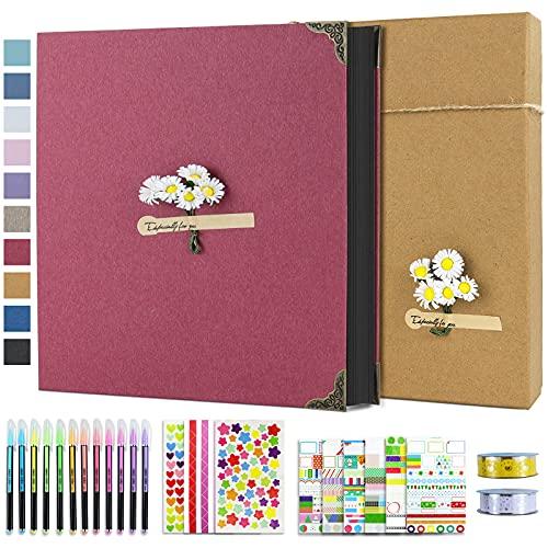 Vienrose Album de Fotos 10x15 Scrapbook con Espiral (60 Páginas Negra) Pegar...