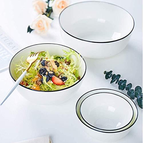 ERGDFH Porcelain Cereal Bowls, Dishwasher & Microwave Safe Ceramic Bowl, Serving for Desserts, Breakfasts, Soups