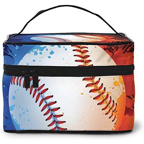 Baseball Ball Portable Ladies Travel Cosmetic Case Bag Storage Makeup Pouch Multi-Function Wash Large Capacity Makeup Bag