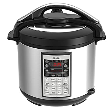 COSORI 8 Qt Premium 8-in-1 Programmable Multi-Cooker (Pressure Cooker, Rice Cooker, Steamer, Warmer, Etc.), 1200W, Includes Glass Lid, Sealing Ring and Recipe Book