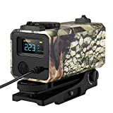 BOBLOV 700m Mini Rifle Scope Mounted Range Finder Tactical Outdoor Hunting Shooting Rangefinder Archery Crossbow Sight Target Speed Measure with Rail Mount Lightweight (Camouflage)