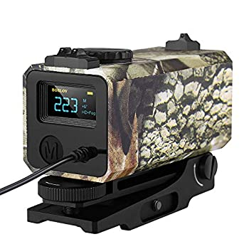 BOBLOV 700m Mini Rifle Scope Mounted Range Finder Tactical Outdoor Hunting Shooting Rangefinder Archery Crossbow Sight Target Speed Measure with Rail Mount Lightweight  Camouflage