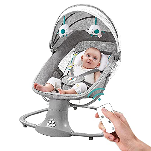 Baby Swing Baby Cradle Infant Adjustable Rocker Motorized Portable Swing...