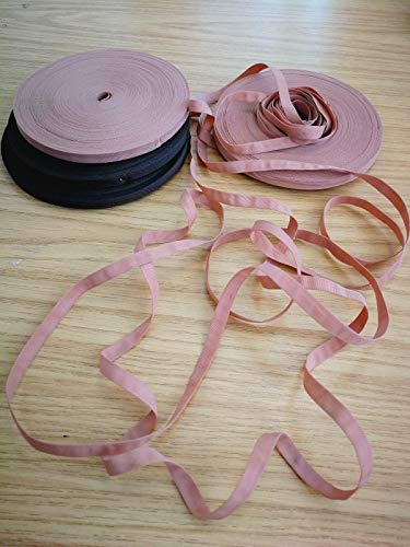 UK : brun galon, ruban de blocage de 7 mm, ruban tubulaire, maintien de la perruque, fabrication et couture de perruque, perruque en dentelle (0,9 m)