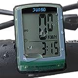 OutdoorMaster JUNSD Bike Computer, Waterproof Multifunction Cycling Speedometer (Green)