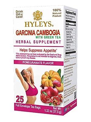 Hyleys Wellness Garcinia Cambogia Green Tea Pomegranate (100% Natural, Sugar Free, Gluten Free and Non-GMO)