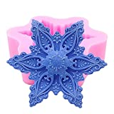 Monqui Snowflake Silicone Mold for Handmade Soap, Crafts, Candle, Chocolate, Muffins, Ice
