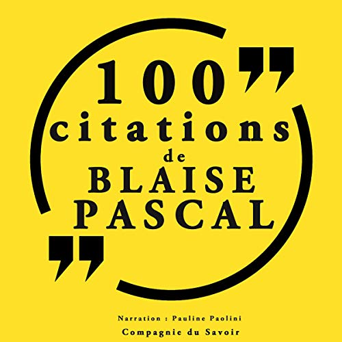 Couverture de 100 citations Blaise Pascal