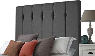 H-Cube FurnitureDivan podstawa łóżka zagłówek Turyn dopasowanie/guziki diamentowe 11 cm seria montowana na ścianie (węgiel...