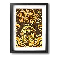 アートパネル アートフレーム 壁アート 壁飾り 木枠付けインテリアアートキャンバス絵画 Sturgill Simpson 壁画 壁掛け インナーフレーム 装飾画 インテリア の装飾 軽くて取り付けやすい おしゃれ プレゼント