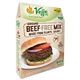 Vejje Meat-Free Mixes (GROUND BEEF-FREE MIX) (Single Box) (Makes 3 Pounds)