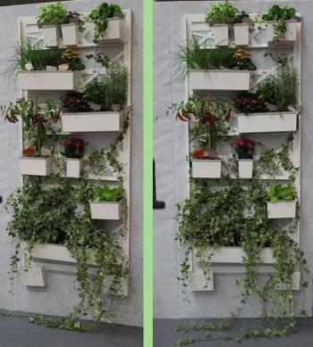 Vasi A Muro.Orto Verticale Per Balcone Elite Pannello A Muro