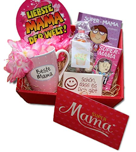 Beste Mama Geschenke | Geschenkkorb Mama | Geburtstagsgeschenk Super Mama | Geschenk Geburtstag Mama | Muttertag | Dankeschön Mama