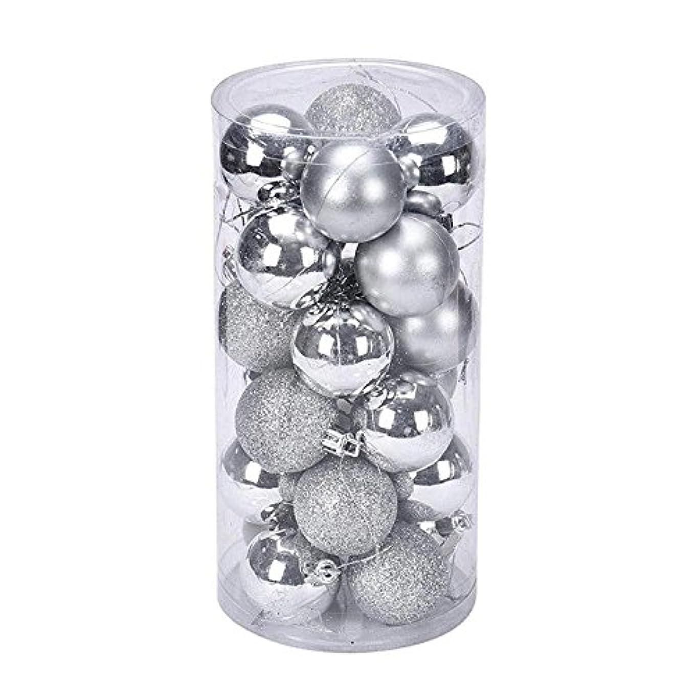 指導する舗装するラップYideaHomeクリスマス オーナメント ボール 24個セット ツリー デコレーション ボール 飾り クリスマス パーティー タトゥーシール