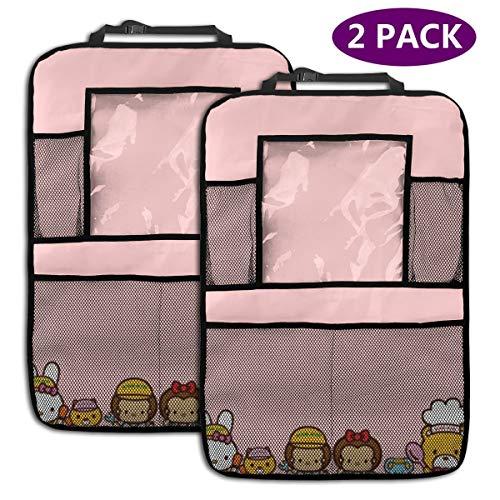 TBLHM Hello Kitty Families Lot de 2 organiseurs pour siège arrière de Voiture avec Support pour Tablette