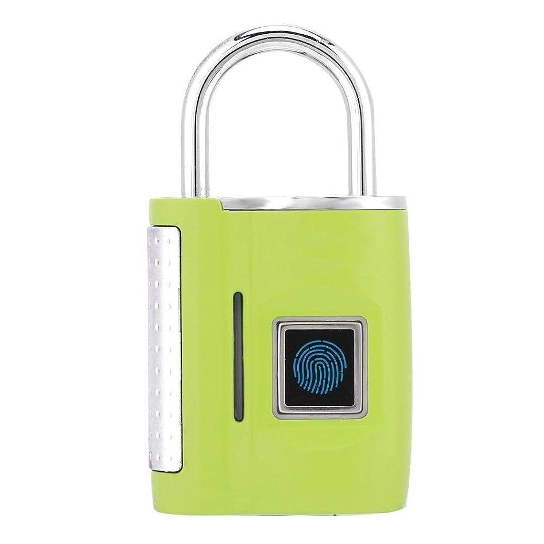 レンドめる息子WKAP_N_A 指紋ロックスマート南京錠、360°指紋セキュリティ拇印ドア南京錠を認識し、USB充電式