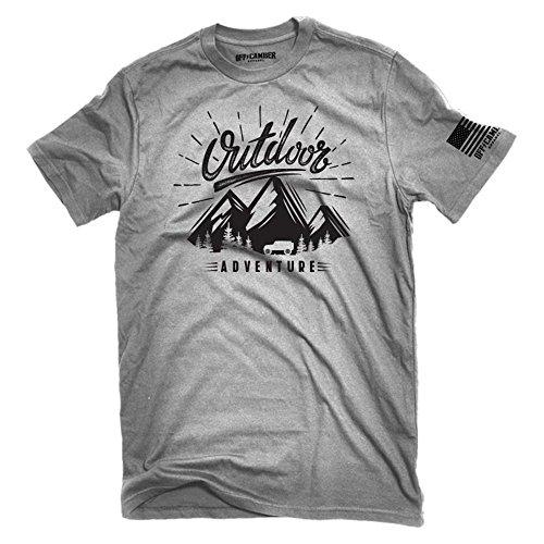 Outdoor Adventure 4x4 T-Shirt 100% Cotton Soft Ink Made in USA Wrangler Offroad 4x4 rockcrawling Unisex Shirt (Medium) Ash Gray