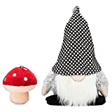 Lucky Love Dog Gnome Mushroom Dog Toy from Plush Dog Toy Set | Holiday Gnome Stuffed Animal | | Plush Squeaky Durable | Part of Purchase Donated to Dog Rescue