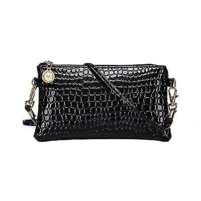 Women Faux Leather Zipper Clutch Mini Cross Body Shoulder Bag Phone Bag