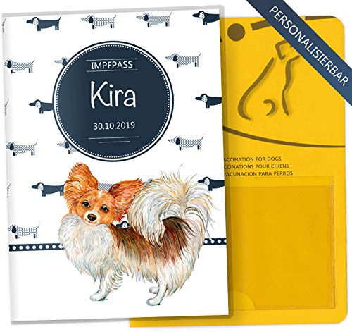 Impfpass Hülle Taksa Tierausweis Schutzhülle schöne Geschenkidee personalisierbar mit Namen und Geburtsdatum (Chihuahua, Impfpasshülle personalisiert)
