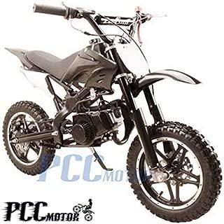 PCC MOTOR Kids Mini Dirt Bike Gas Power 2-Stroke 49cc Motorcycle Off Road Motorcycle Pit Bike, Fully Automatic Transmission Black (black)